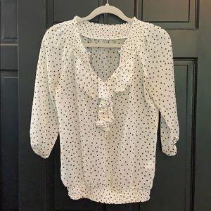 Polka dot sheer blouse size small